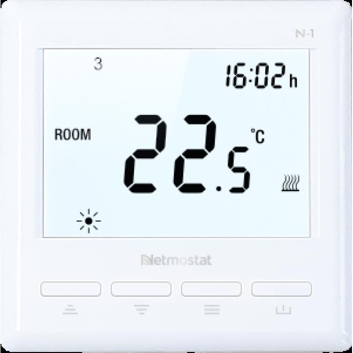Termoreguliatorius WiFi Netmostat N-1 programuojamas