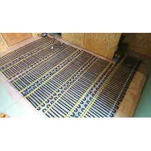 Anglies pluošto kabelio kilimėlis Warmset Black